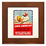 Navy Arise Americans Framed Tile