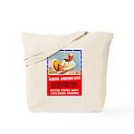 Navy Arise Americans Tote Bag