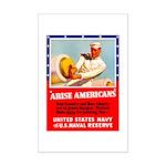 Navy Arise Americans Mini Poster Print