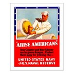 Navy Arise Americans Small Poster