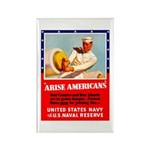 Navy Arise Americans Rectangle Magnet