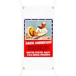 Navy Arise Americans Banner