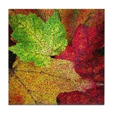 Autumn Leaves Tile Coaster