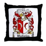 Wadwicz Family Crest Throw Pillow