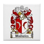 Wadwicz Family Crest Tile Coaster