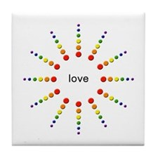 Love Burst Tile Coaster