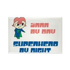 Sara- SuperHero By Night Rectangle Magnet