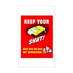 Shut Up Keep Your Trap Shut Rectangle Sticker