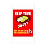 Shut Up Keep Your Trap Shut Rectangle Sticker 10