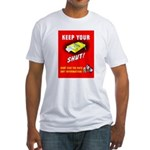 Shut Up Keep Your Trap Shut (Front) Fitted T-Shirt