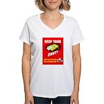 Shut Up Keep Your Trap Shut (Front) Women's V-Neck