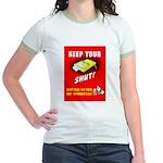 Shut Up Keep Your Trap Shut Jr. Ringer T-Shirt