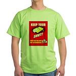 Shut Up Keep Your Trap Shut (Front) Green T-Shirt