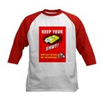 Shut Up Keep Your Trap Shut (Front) Kids Baseball
