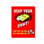 Shut Up Keep Your Trap Shut Postcards (Package of