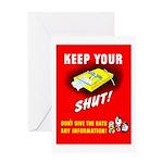 Shut Up Keep Your Trap Shut Greeting Card