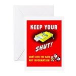 Shut Up Keep Your Trap Shut Greeting Cards (Pk of