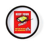 Shut Up Keep Your Trap Shut Wall Clock