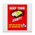 Shut Up Keep Your Trap Shut Tile Coaster