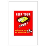 Shut Up Keep Your Trap Shut Large Poster