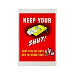 Shut Up Keep Your Trap Shut Rectangle Magnet (10 p
