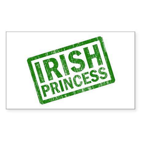 Irish Princess Rectangle Sticker