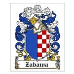 Zabawa Family Crest Small Poster
