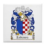Zabawa Family Crest Tile Coaster