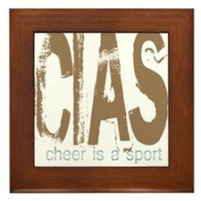 Cheer is a Sport Framed Tile