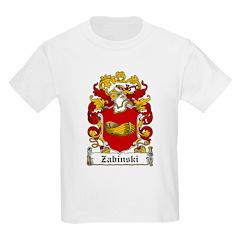 Zabinski Family Crest Kids T-Shirt
