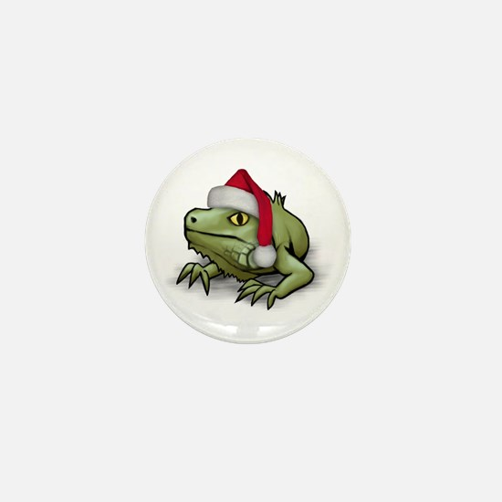 Christmas Iguana Mini Button