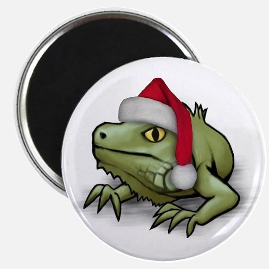 Christmas Iguana Magnet