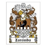 Zaremba Family Crest Small Poster