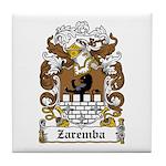 Zaremba Family Crest Tile Coaster