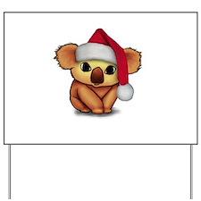 Christmas Koala Yard Sign