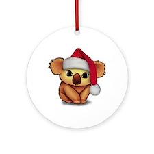 Christmas Koala Ornament (Round)