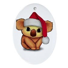 Christmas Koala Oval Ornament