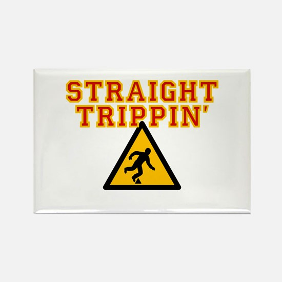 Straight Trippin' Rectangle Magnet