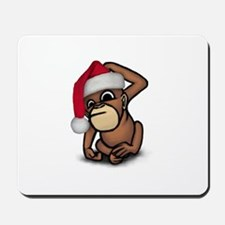 Christmas Monkey Mousepad
