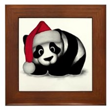 Christmas Panda Framed Tile