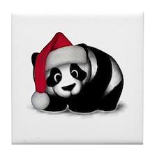 Christmas Panda Tile Coaster