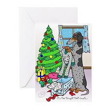 Dapple Dachshund Sweater Christmas Cards (10)