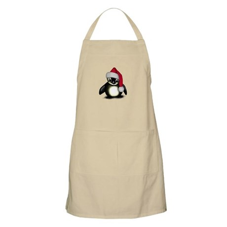 Christmas Penguin BBQ Apron