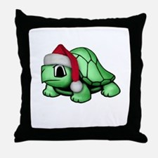 Christmas Turtle Throw Pillow