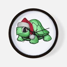 Christmas Turtle Wall Clock