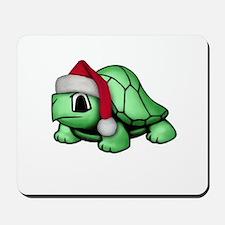 Christmas Turtle Mousepad
