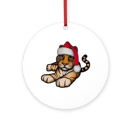 Christmas Tiger Ornament (Round)