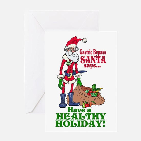 Gastric Bypass Santa Greeting Card