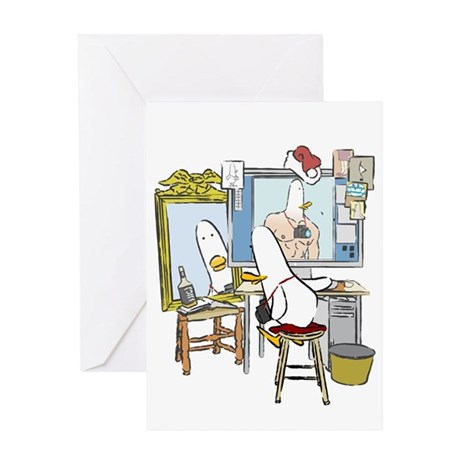 What the Duck: Self Portrait Greeting Card