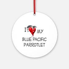 Blue Pacific Parrotlet Christmas Ornament